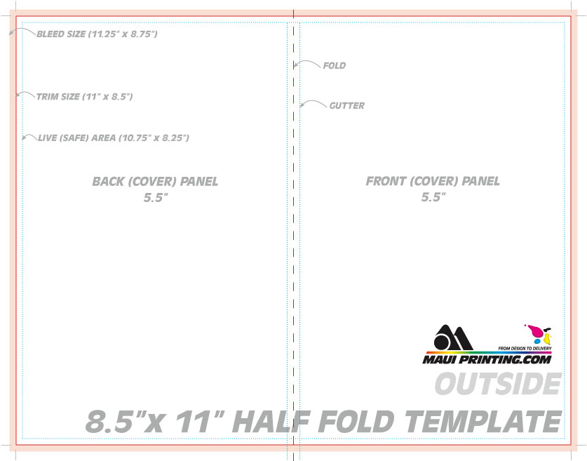 Maui Printing Company Inc X Half Fold Brochure - 5 fold brochure template