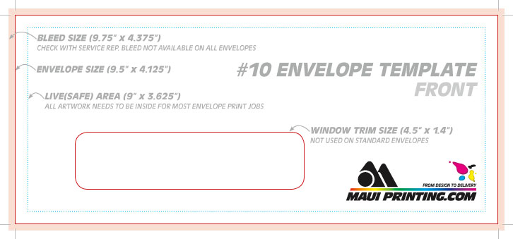 Maui Printing Company Inc  Envelope Template