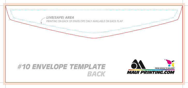 Maui Printing Company Inc.: #10 Envelope Template