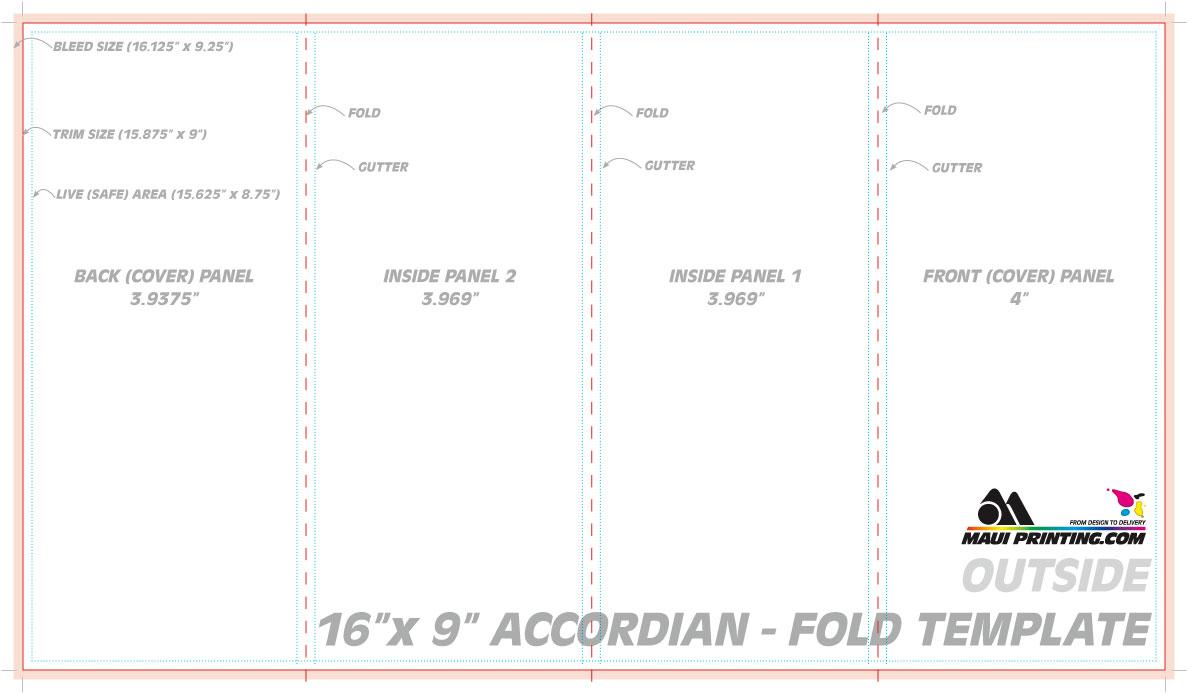 Accordion Fold Brochure Template Tierbrianhenryco - Accordion fold brochure template