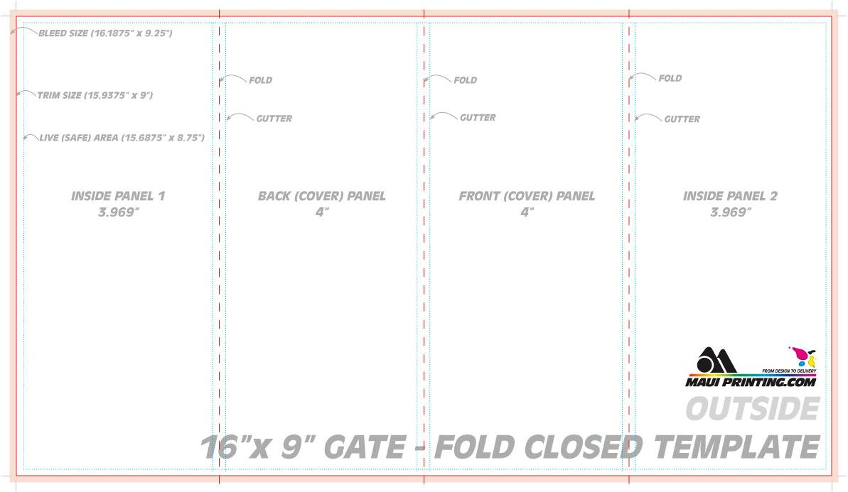 maui printing company inc 16 x 9 gate fold brochure