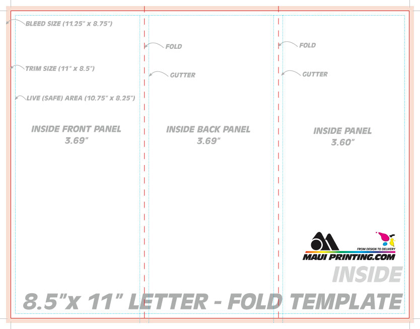 maui printing company inc 8 5 x 11 letter tri or roll fold. Black Bedroom Furniture Sets. Home Design Ideas