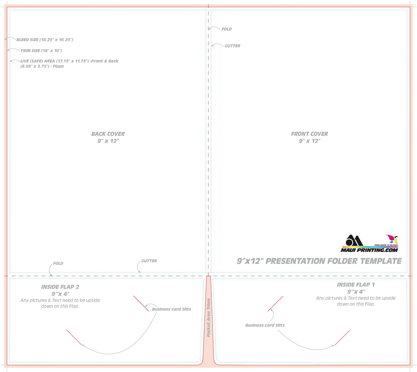 Maui printing company inc 9 x 12 presentation folder template 9 x 12 presentation folder template flashek Gallery